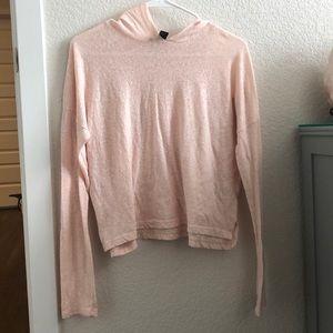 Sheer pink hoodie